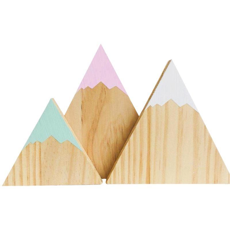 الشمال نمط الثلج جبل الحلي خشبية الجدار شنقا ديكور طفل أطفال نوم شنقا ديكورات 3 قطعة / المجموعة Y0107