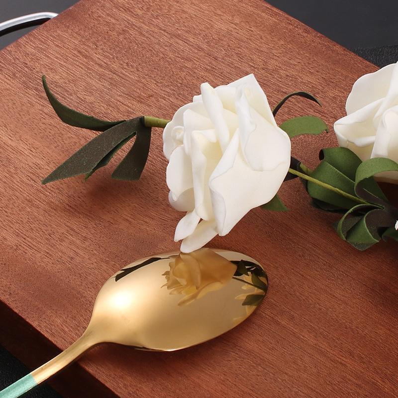 Стальные столовые приборы набор золотых столовых приборов набор столовых приборов из нержавеющей стали Западная посуда набор кухонные ножи ложка розовый Dropshipping H JLLAHM