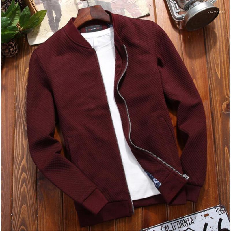 2020 Veste Veste pour hommes Veste à glissière Veste Casual Veste occasionnelle Automne Nouveau Trend Blanc Mode Hommes Manteaux Marque Vêtements Vêtements Red Vin Black1