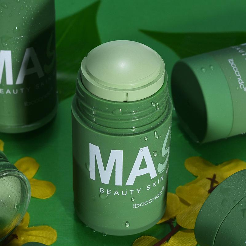 Thé vert Nettoyage masque solide contrôle de l'huile de nettoyage profonde beauté peau morne thé hydratant hydratant visage visage 0524