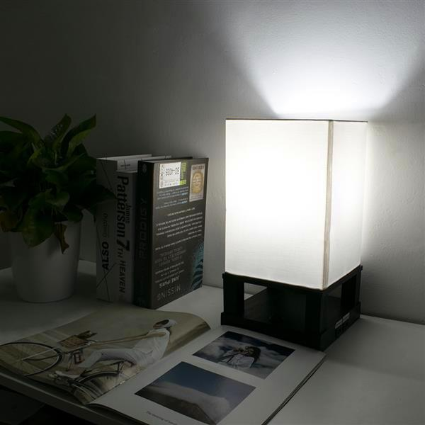 40W (Without Light Bulb) Table Lamp US Standard Black Four-Corner Base (Dual USB Interface) AC Powered Warm Lighting Table Lamps