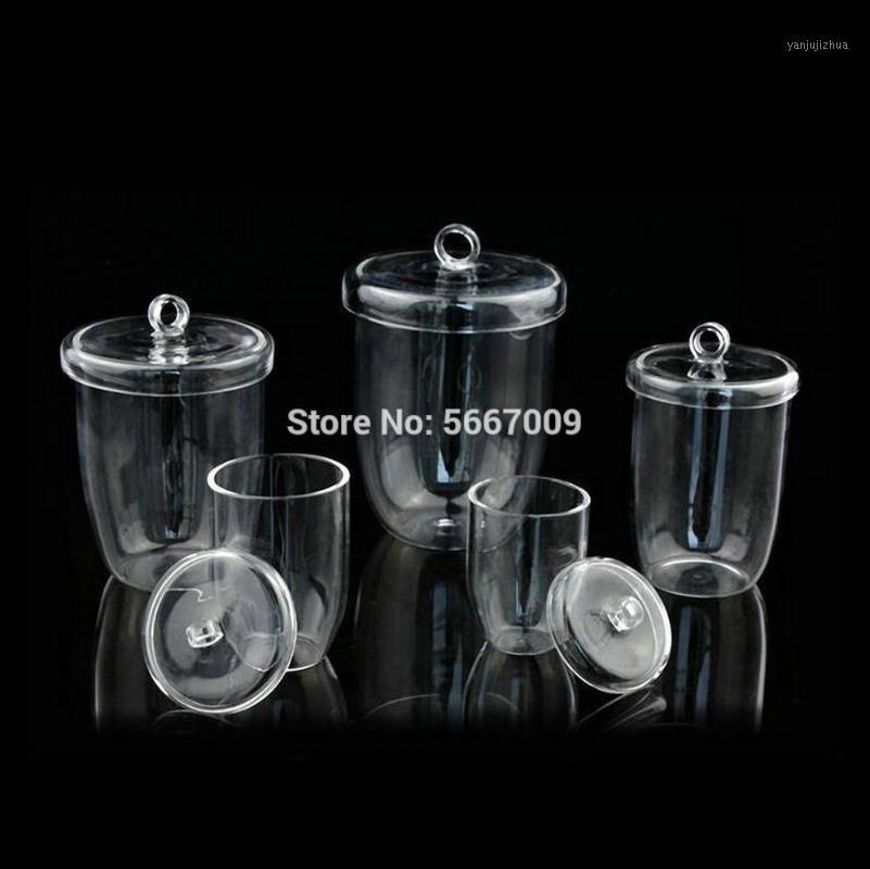1pcs laboratoire quartz verre creuset avec couvercle haute pureté et résistance à haute température 10/20 / 25/30 / 50ml1