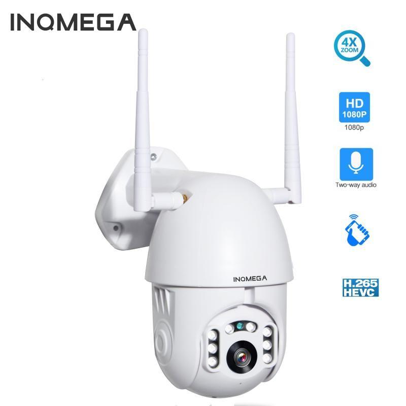 Inqmega 4x Digital Zoom H.265x 1080P PTZ IP Kamera Außengeschwindigkeitskuppel CCTV-Sicherheitskameras WIFI-Außenansicht IR-Hausüberwachung