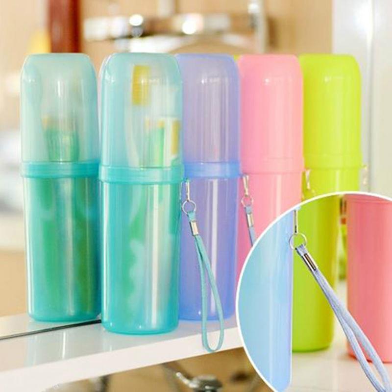 1Pcs путешествия зубная щетка Box Портативный Зубная Protect Case Wash Cup Cosmetic Case Аксессуары для ванной комнаты