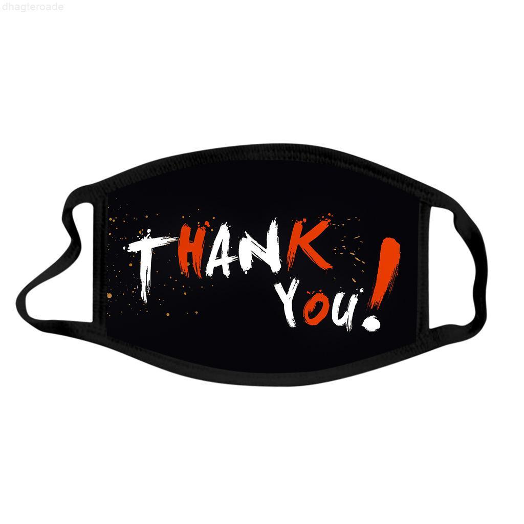 Счастливое лицо, давая дизайнерскую маску для взрослых благодарственное спасибо пылезащитные моющиеся хлопчатобумажные маски рот мультфильм