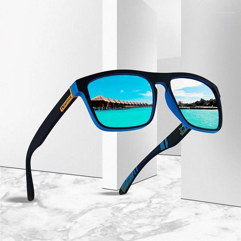 Gafas de sol DJXFZLO 2021 Fashion Guy en las gafas de sol Polarizadas Hombres polarizados Diseño clásico Espejo cuadrado Men1