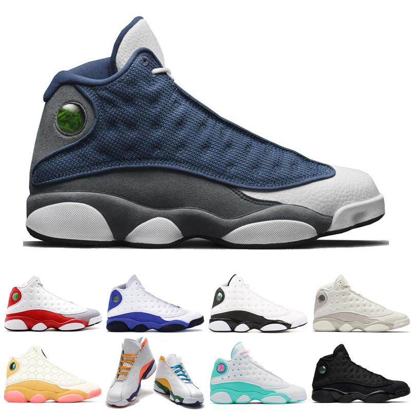 New 13 13s Flint mens basketball shoes Cap and Gown Defining Moment Court Purple women men fashion sports Sneakers 36-47