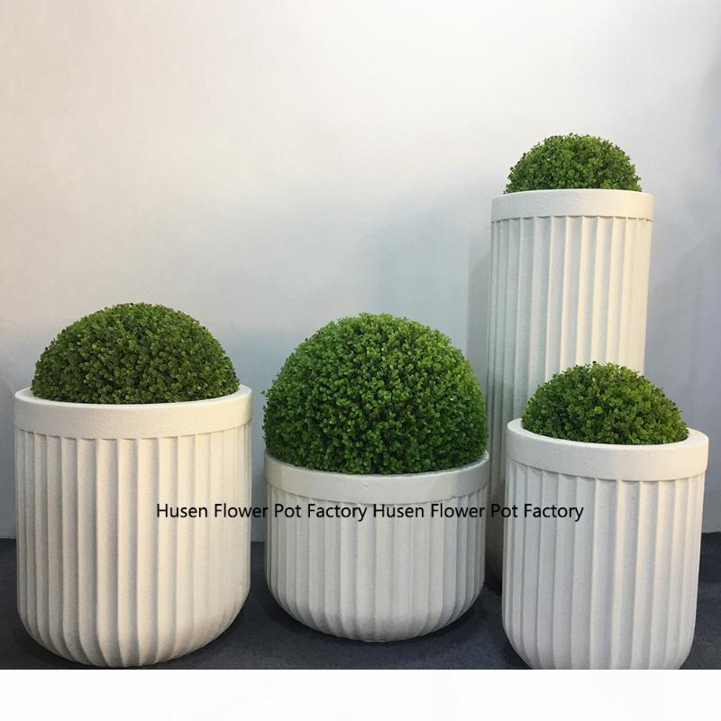 Semplice giardino decorazione vaso bianco casa decorazione del salone del fiore del giardino moderna all'aperto vaso verde