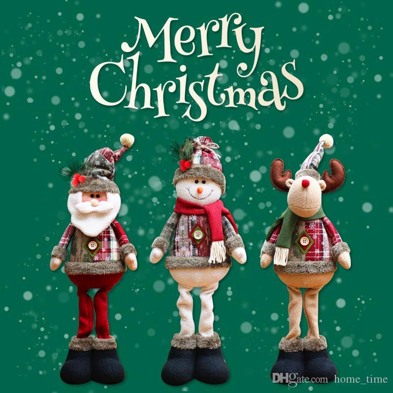 Yeni Yıl Noel Büyük Bebekler Pencere Süslemeleri Noel Ağacı Süsler Oyuncaklar Çocuklar Için Ev Dekor Yenilikçi Santa Kardan Adam