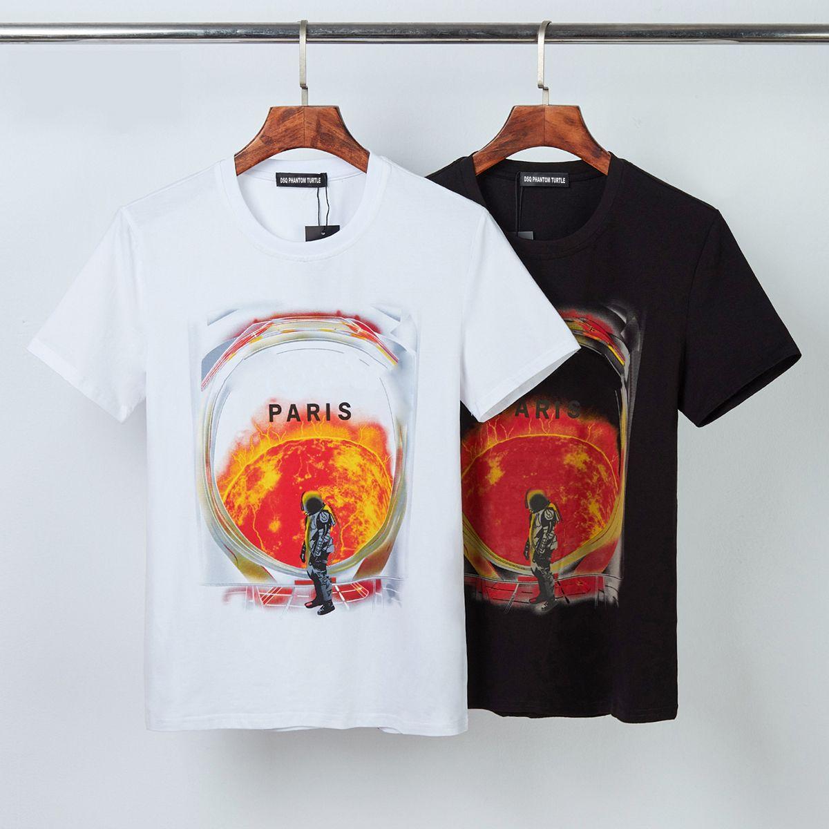 DSQ Phantom Tortue 2021ss New Mens Designer T-shirt T-shirt Paris Mode T-shirts Modèle d'été T-shirt Homme Top Qualité 100% coton Top 1196