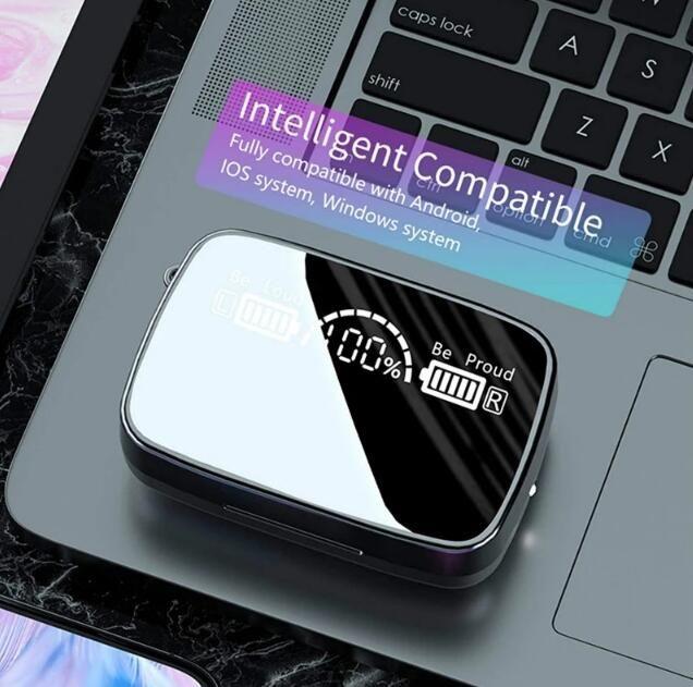 M9-17 Светодиодный дисплей Earbuds TWS Наушники 9D Беспроводной Bluetooth 5.1 Наукаты VS VS Harneration 3 Бутона для iPhone 11 12 Samsung S20 Универсальный