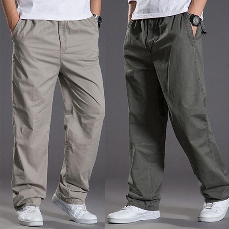 BAIJOE 2017 nuevo primavera pantalones casuales hombres pantalones de carga algodón pantalones sueltos para hombre pantalones mono Moda súper grande XL-6XL Y200114