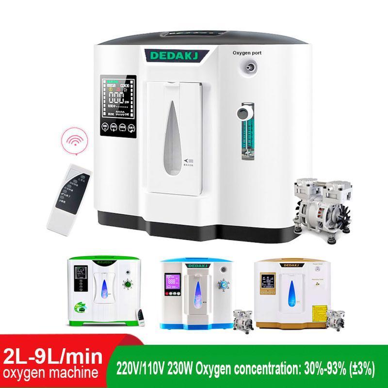 Purificatori Air 6L 7L 9L Generatore di ossigeno, depuratore di cura, macchina per il generatore portatile domestico