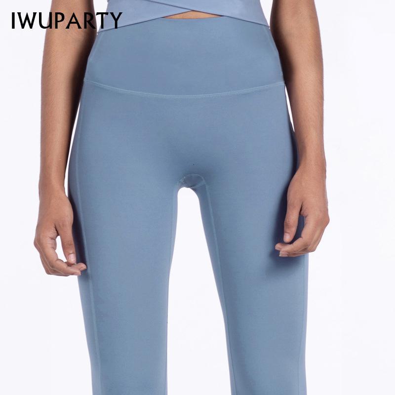 IWUPARTY High Taille Stretch Gych Сплошные лоскутные спортивные леггинсы бегущие девушки тонкий фитнес длинные трусики йога броек женщины