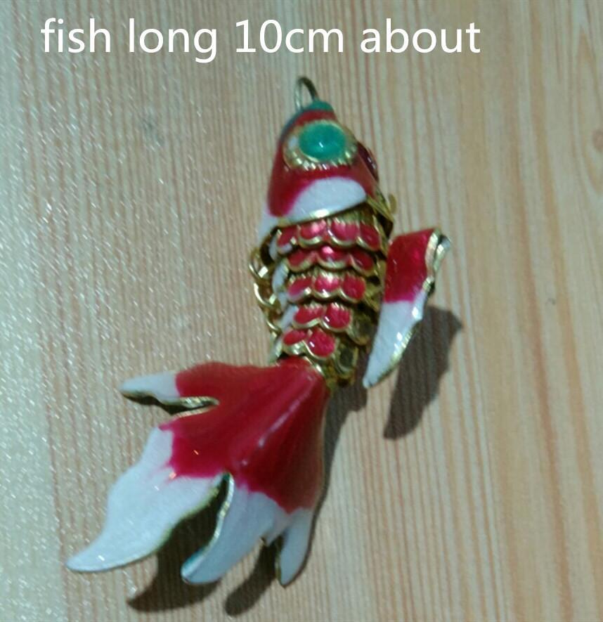Grande oscillazione artigianale Fantasia Fancy Smalto Fish Charm Carino FAI DA TE Gioielli Gruppo di Pendenti Collana Bracciali Portachiavi Accessori 5pcs 7.5cm 10 cm