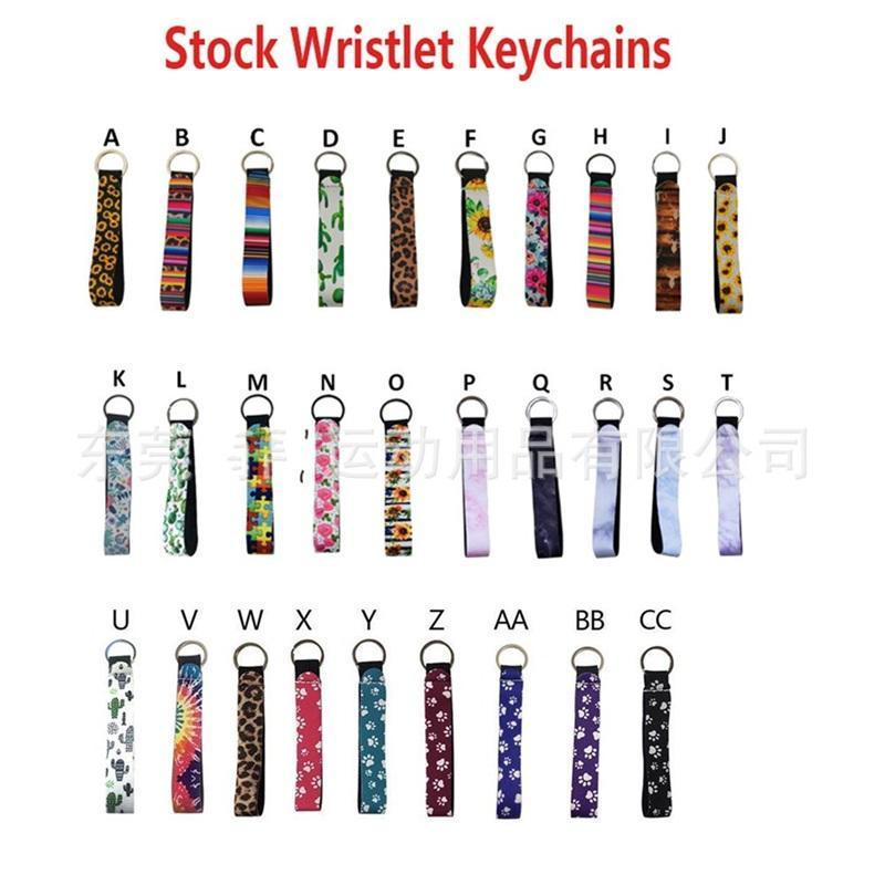 Неопрен брелок цвет леопарда печати мода браслет ключ пряжка новая цветочная печатная аксессуары висит веревка 1 5NY K2