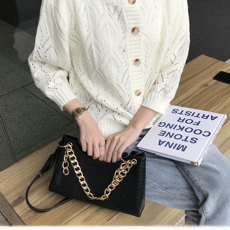 HBP 어깨 가방 메신저 가방 핸드백 지갑 새로운 디자이너 가방 고품질 텍스처 패션 격자 체인 악어 패턴 편안한