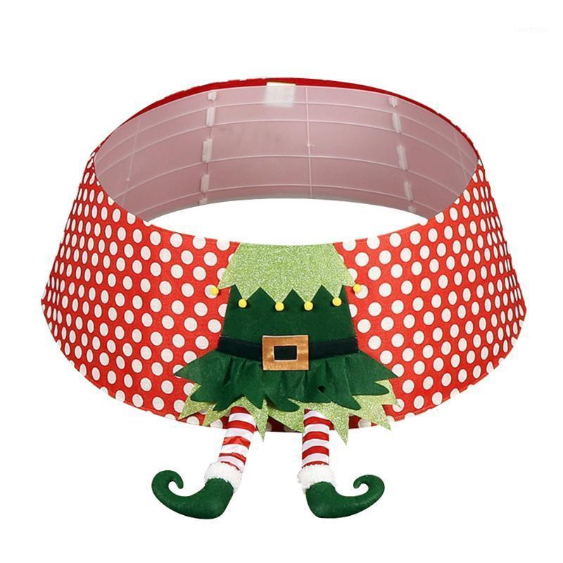48 pollici Collare rotondo Party Albero di Natale Gonna festival con gambe deliziose Capodanno riutilizzabile casa non tessuta tessuto