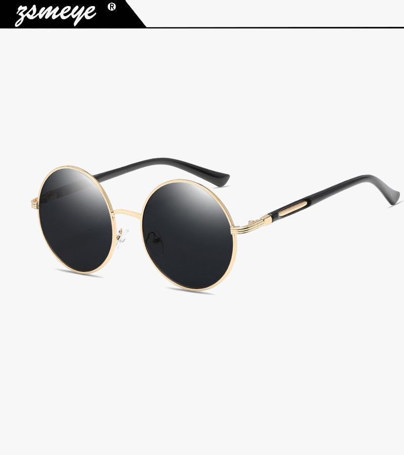 Güneş gözlüğü zsmeye vintage yuvarlak kadınlar yansıtıcı güneş gözlükleri kadın kadın tonları marka tasarımcı lunette de soleil UV400