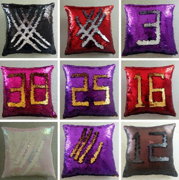 Обратимые блестки декоративные подушки русалки блестки подушки подушки подушки подушки диван бросок подушка 40x40см домашний декор 34 стиль BT922