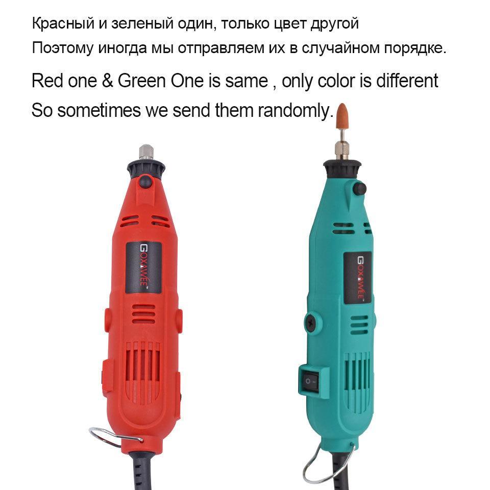 GOXAWEE 220V Mini de perceuse électrique à graver Rotation de vitesse variable avec une arbre flexible 181pcs accessoires outils d'alimentation pour Dremel Y200323