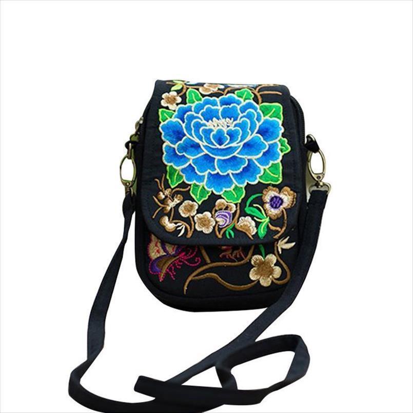 جديد وصول أكياس مطرزة الوطنية الأزياء حقيبة الإناث التطريز حقيبة واحدة الكتف يميل ثلاثة طبقات الكتف جديد