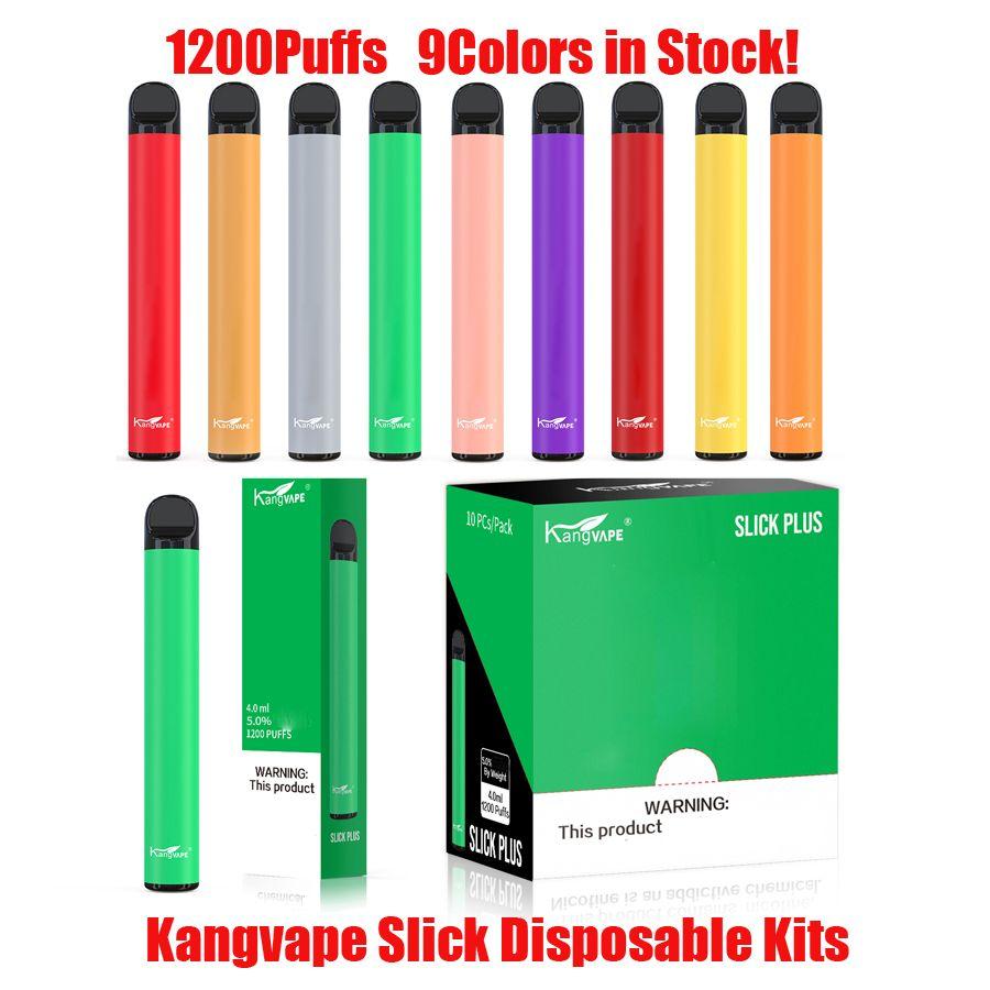 Аутентичные Kangvape Slick Plus POD одноразовый комплект 700 мАч Батарея 4 мл Пустые стручки 1200 Устройство слоеного устройства VAPE PEN VS XXL 100% Оригинал