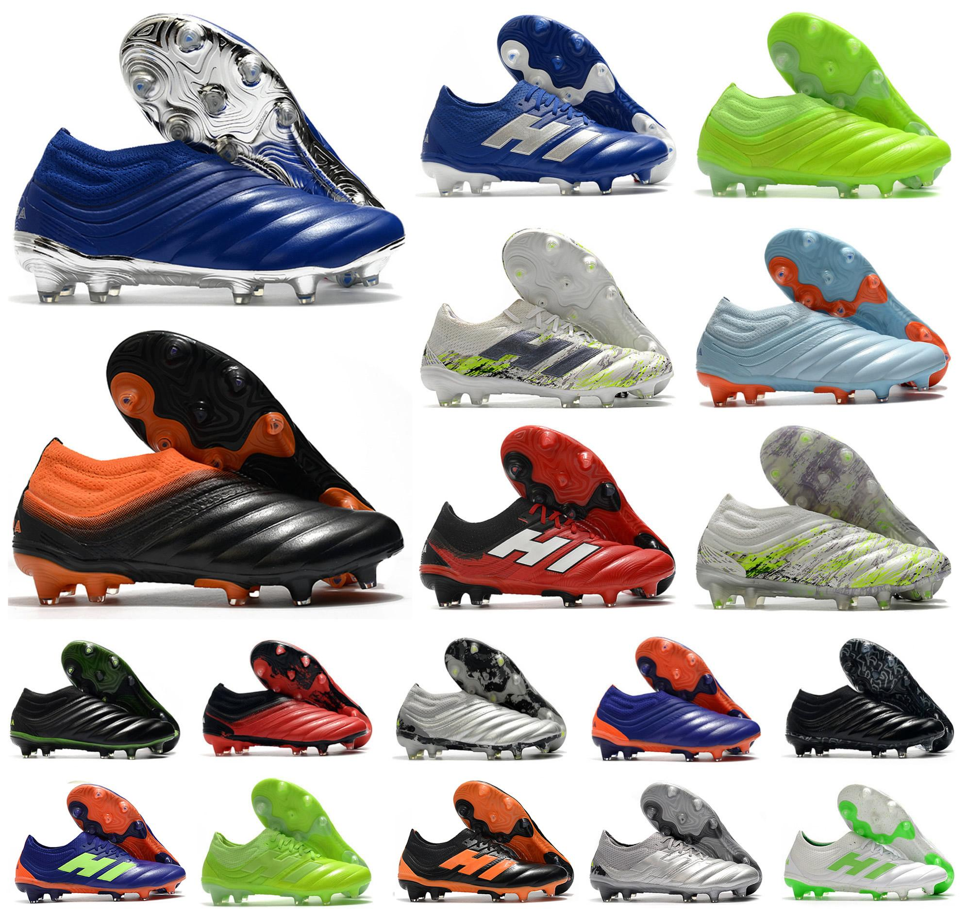 Hot Mens Copa 20+ 20.1 FG Equight Precision To Blur Glory Hunter Uniforia Slip-On 20 + X 19 + X Soccer Football أحذية الأحذية المرابط US6.5-11