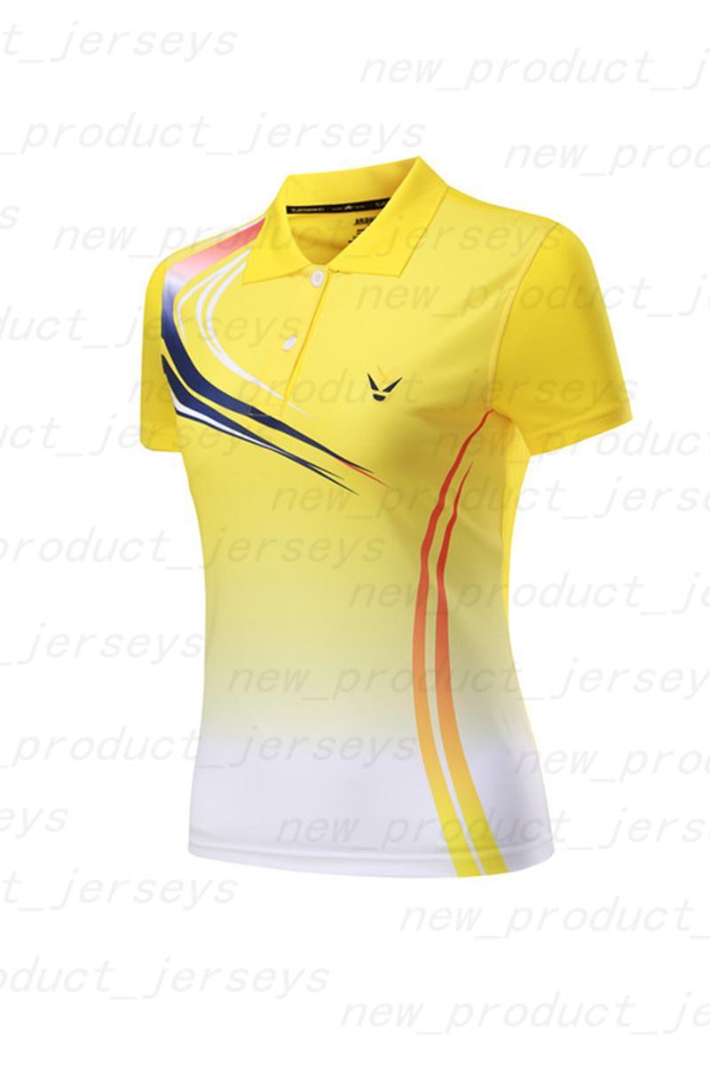 Badminton giyim t-shirt kısa kollu hızlı kuruyan renk eşleştirme baskılar spor giyim formaları 10000020