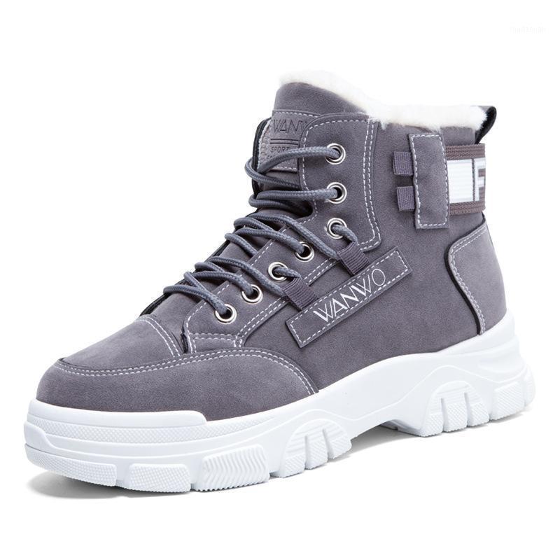 Çizmeler Swyvy Peluş Kürk Kar Kadınlar Kış Sıcak Sneakers Yüksek Üst 2021 Pamuk Yastıklı Rahat Ayakkabılar Kadın Ayak Bileği Boot1