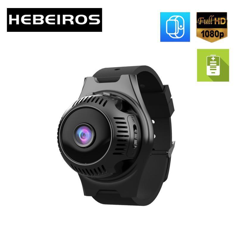 Hebeiros 1080P الترا البسيطة الحجم يمكن ارتداؤها الرياضية بطارية كاميرا المغناطيسي قاعدة المحمولة IP WIFI كاميرا الصوت SD TF بطاقة AP وضع