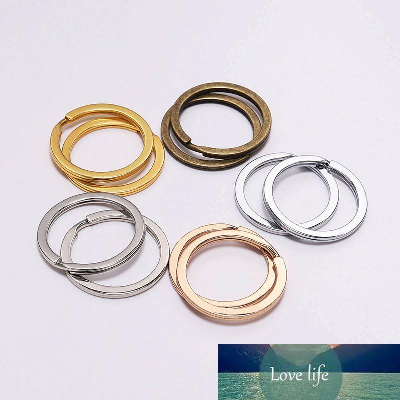 50 unids / lote 30 mm de color oro anillos divididos llavero hallazgos encajadas bricolaje llaveros bucle aro círculos accesorios colgante joyería haciendo