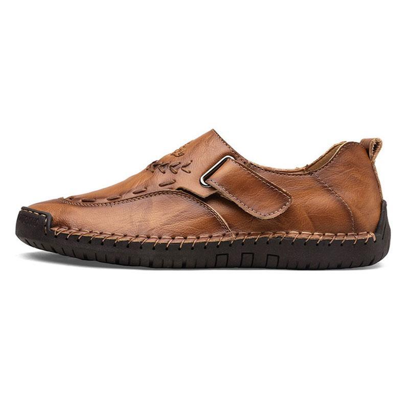 nouvelles chaussures pour hommes couture main occasionnels mis les pieds pois Angleterre chaussures en cuir chaussures pour hommes de grande taille basse 38-48 Fives