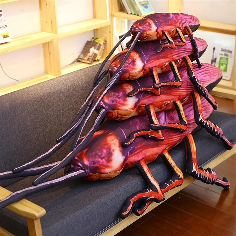 Simulación 3D cucaracha de peluche juguete extraño regalo de cumpleaños relleno gracioso insecto muñeca trampa broma juguetes creativo suave almohada cojín T200731