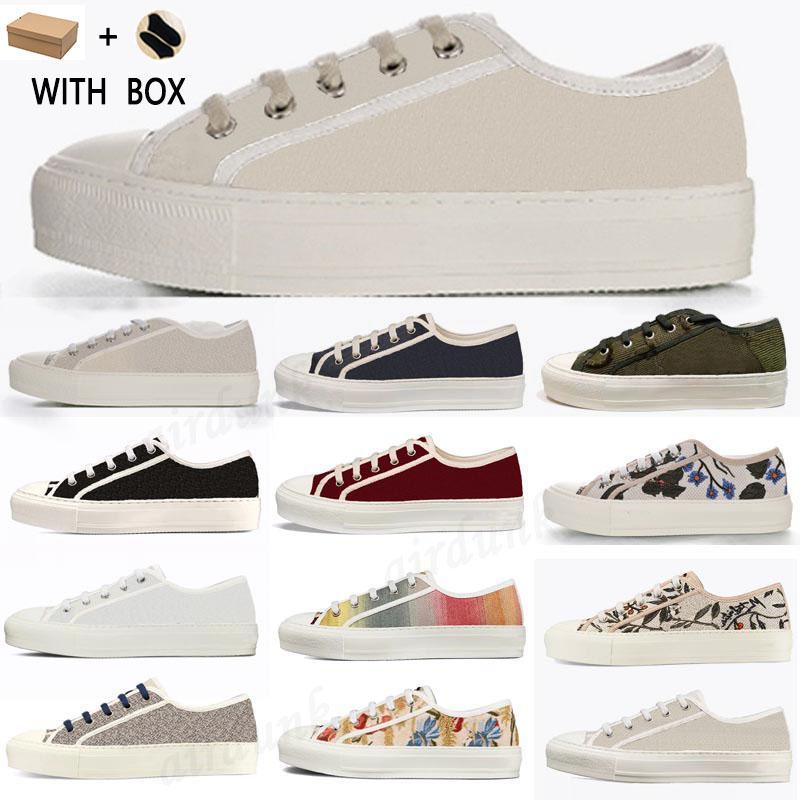 2021 Vendi Bene di alta qualità Scarpe da donna oblique Espadrilles Sneakers Stampa per camminata Sneaker Sneaker Ricamo Tela Piattaforma Piattaforma Shoe Girls Flat Low