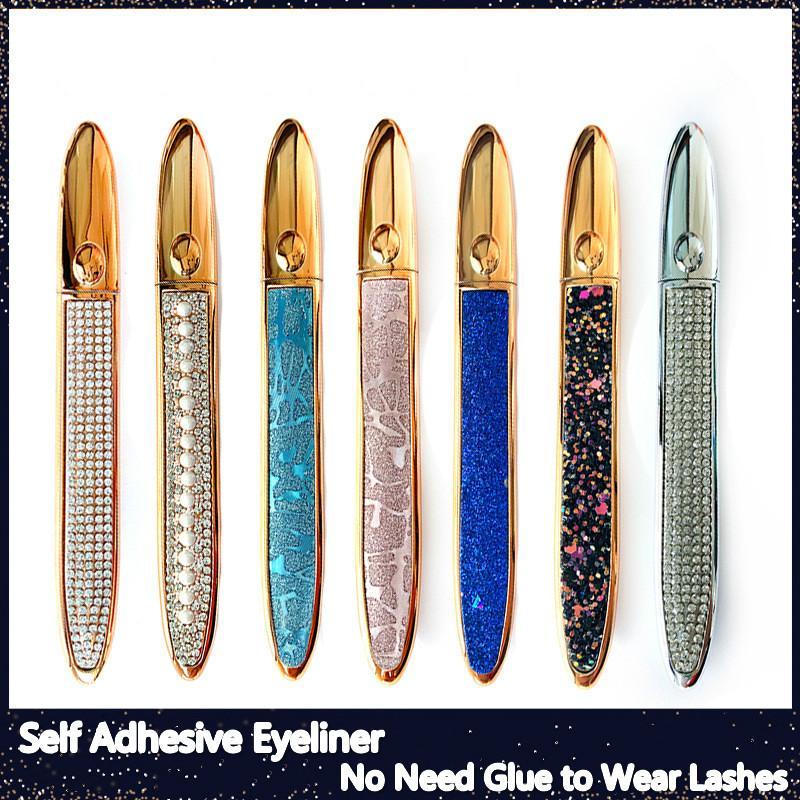 Eyeliner mágico autoadesivo para cílios postiços sem necessidade de cola para usar cílios líquidos delineador forte auto-adesivo eyeliner