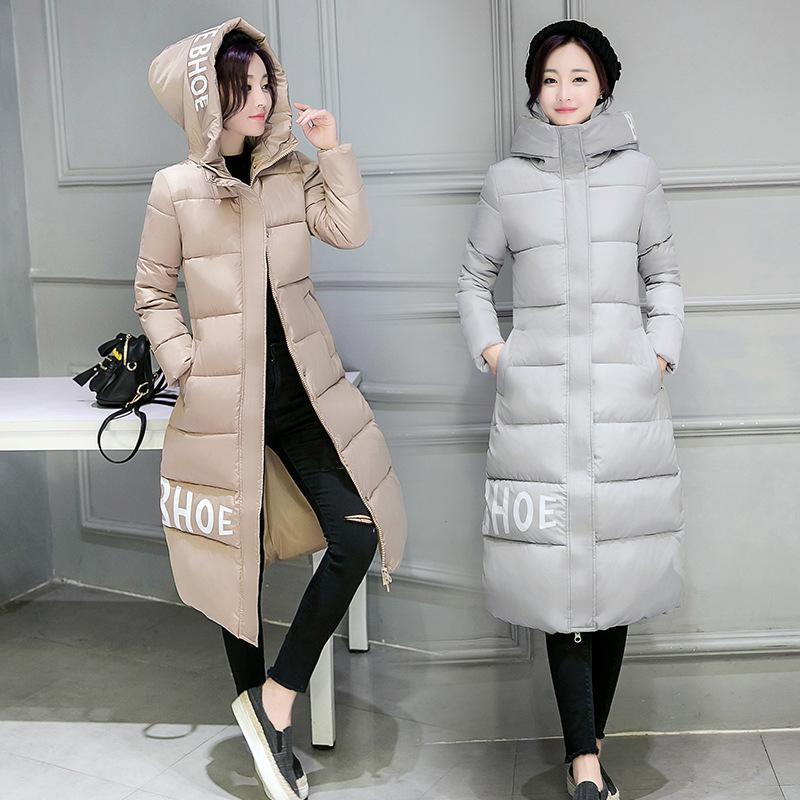 Parka 2019 sonbahar kış ceket kadın mont kadın giyim uzun bayan giyim beyaz aşağı pamuk kırmızı kadın