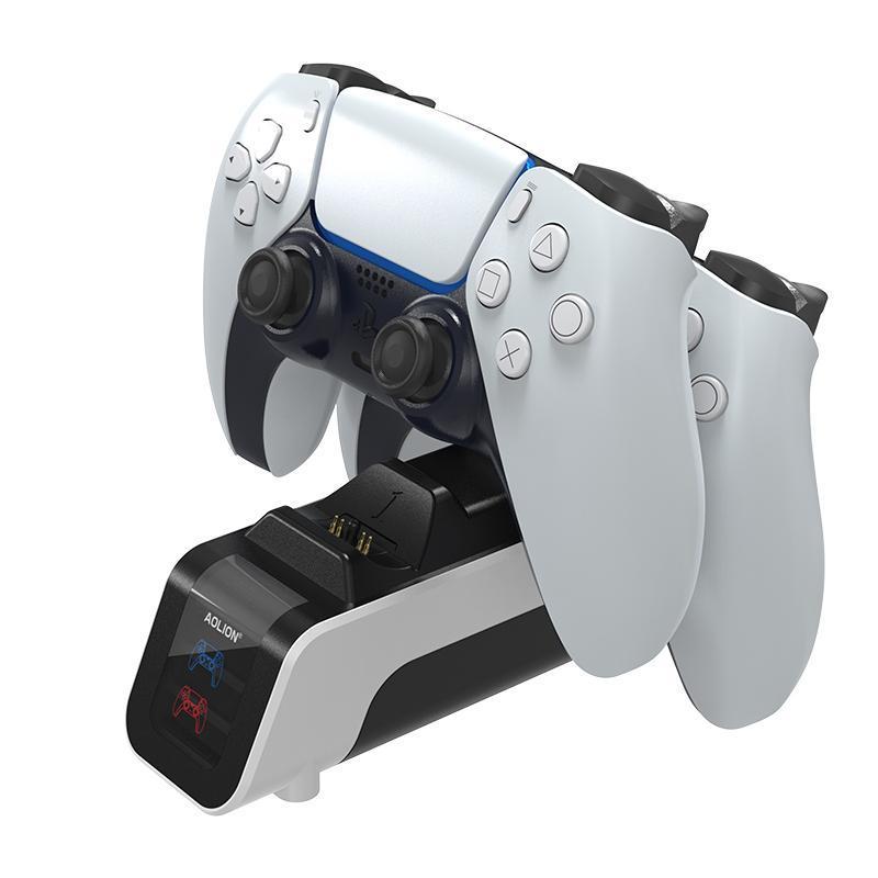 أحدث قاعدة شحن gamepad ل ps5 المزدوج شاحن الوقوف مع عرض الحالة لنقل PS5 عالي السرعة شحن سريع