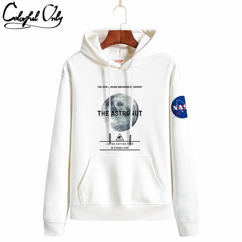 INS super fire lovers hoodies autumn and winter new NASA tide brand Sweater head and cashmere men's sweater size s-4xl