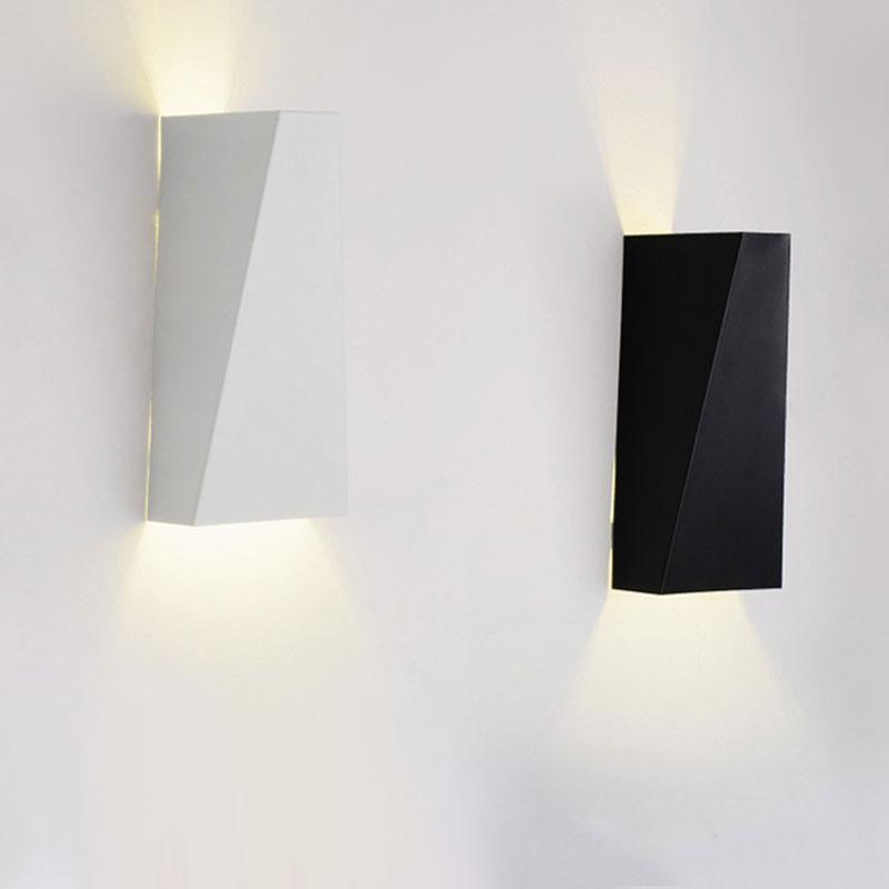 Moderna Minimalista Doble Geometría 10W Lámpara de pared Lámpara de pared Lámpara de noche Colgando de pared de pared SMD 5730 AC 85-265V