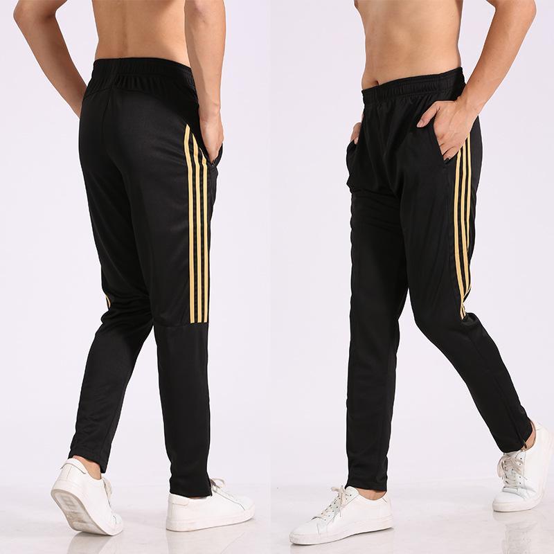 Мужские спортивные спортивные спортивные штаны прямые хип-хоп фитнес бегущий футбольные карандаш брюки тренировки