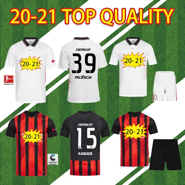 2020 Eintracht Frankfurt Qualität Fussball Jersey 20 21 Frankfurt Home Away Fernandes de Guzman Auswärts Silva Paciencia Chandler Qualität Footba