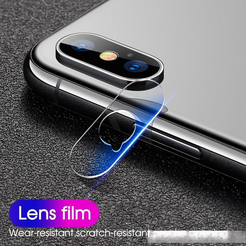 Film d'objectif de caméra pour iPhone SE 2020 11 PRO Max trempé en verre dur Verre de protection pour iPhone XS XR max 8 7 6 6S plus 5S SE avec boîte
