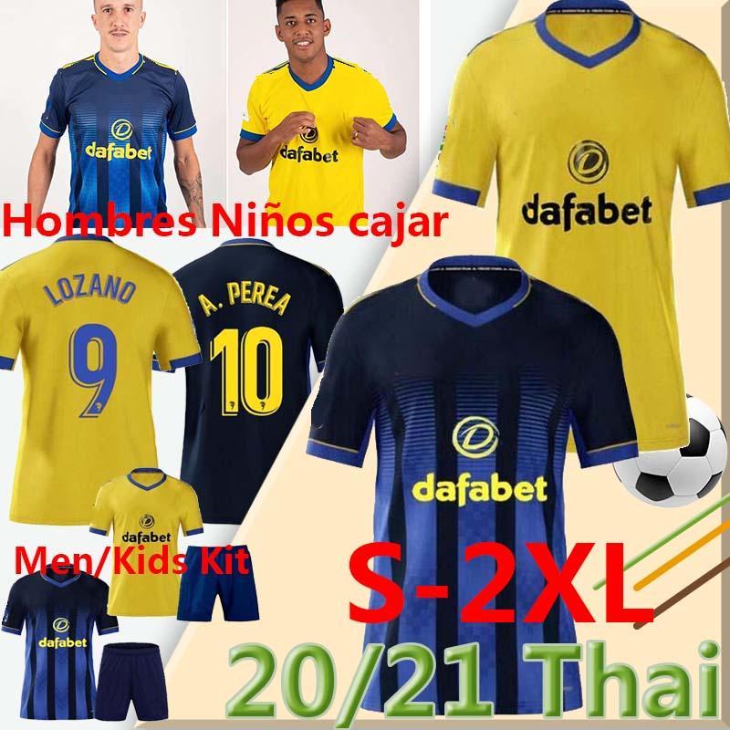 Cádiz CF Camisetas de Fútbol La Liga 2020 2021 كاديز لكرة القدم الفانيلة Chándal Lozano Alex Bodiger Juan Cala Cala Men Kids Kits Football Origs