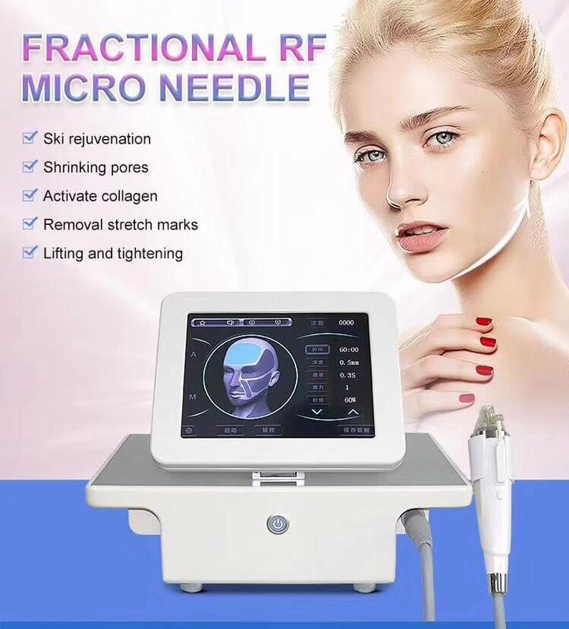 Professional 4 tips Fractional RF microneedle facial and body machine stretch mark acne removal skin rejuvenation RF skin care machine