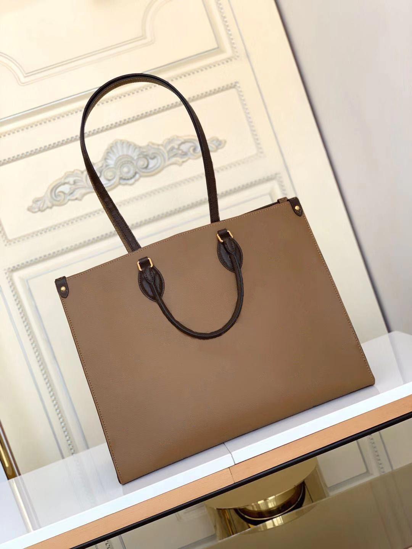 Mulheres Luxurys Designers Sacos 2020 Novas Senhoras Grande Saco de Compras 41 Cm Bolsa de Ombro Hit Color Beach Bag Bolsa de Couro Mensageiro M445
