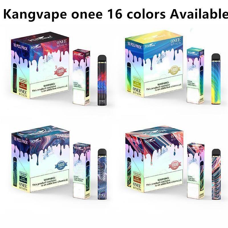 KangVape Onee Stick Dispositivo De Pena De Vape Descartável 1100mAh 1800 Puffs 6.2ml POD PK Puff XXL LUX Air Bar DHL GRÁTIS