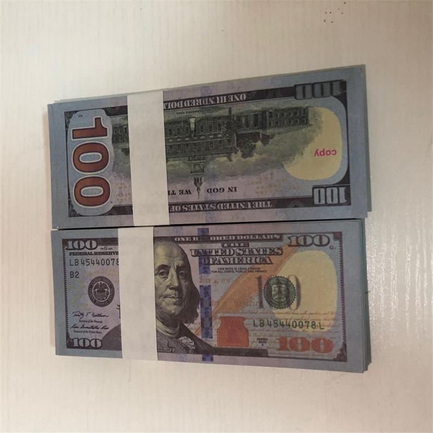 Hohe Qualität Großhandel Kopierwährung US-Währung 100 Stück / Packungsparty Requisiten Schneller Versand 100-1