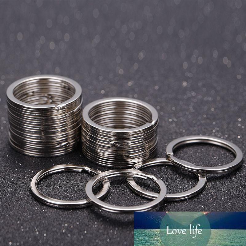 20 unids / tamaño de lote 1.8x25mm de metal de rodio llavero de metal de rodamiento Split Ring High Chuality Key Anillos Fit Bag Llavero Joyería Hallazgo Hallazgo