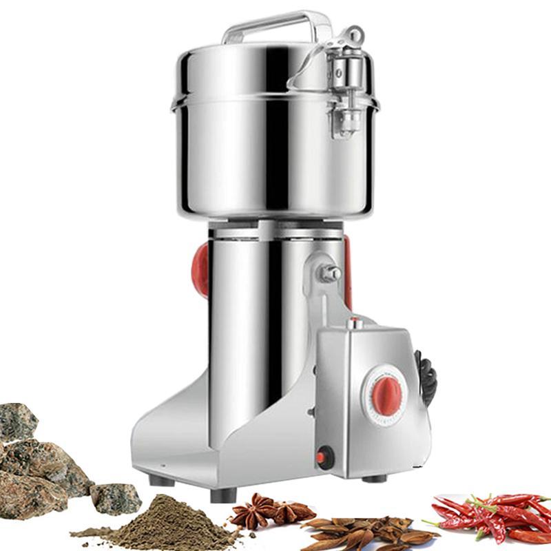 700g Granos Especias Hebals Cereales Café Alimentos Seco Amoladora Miller Miller Máquina Grist Midmill Medicine Medicina Harina Powder Crusher2500W